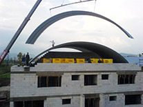 Installation and transport - system of steel segments with screwed joints